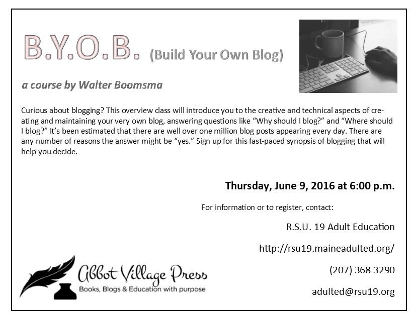 Blogging Postcard
